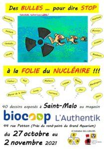 Expo 40 dessins pour dire Stop à la folie du nucléaire @ ST MALO